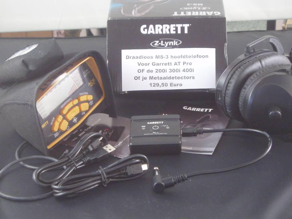 Garrett Draadloze Hoofdtelefoon van Garrett Z-Lynk de MS-3 ACE
