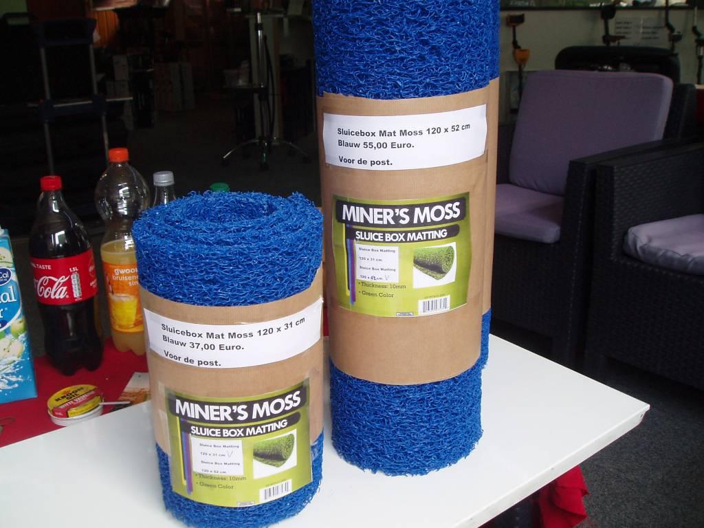 Sluice Box Mat Sluice Box Moss Riffel Carpet Mat blauw.