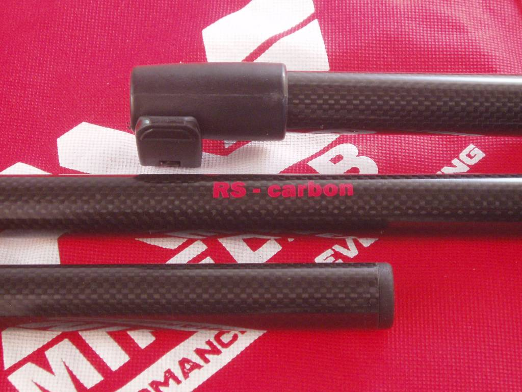 RS - carbon voor de Minelab Equinox 600 & 800 RS - carbon bovensteel voor de Minelab  Equinox 600 en 800