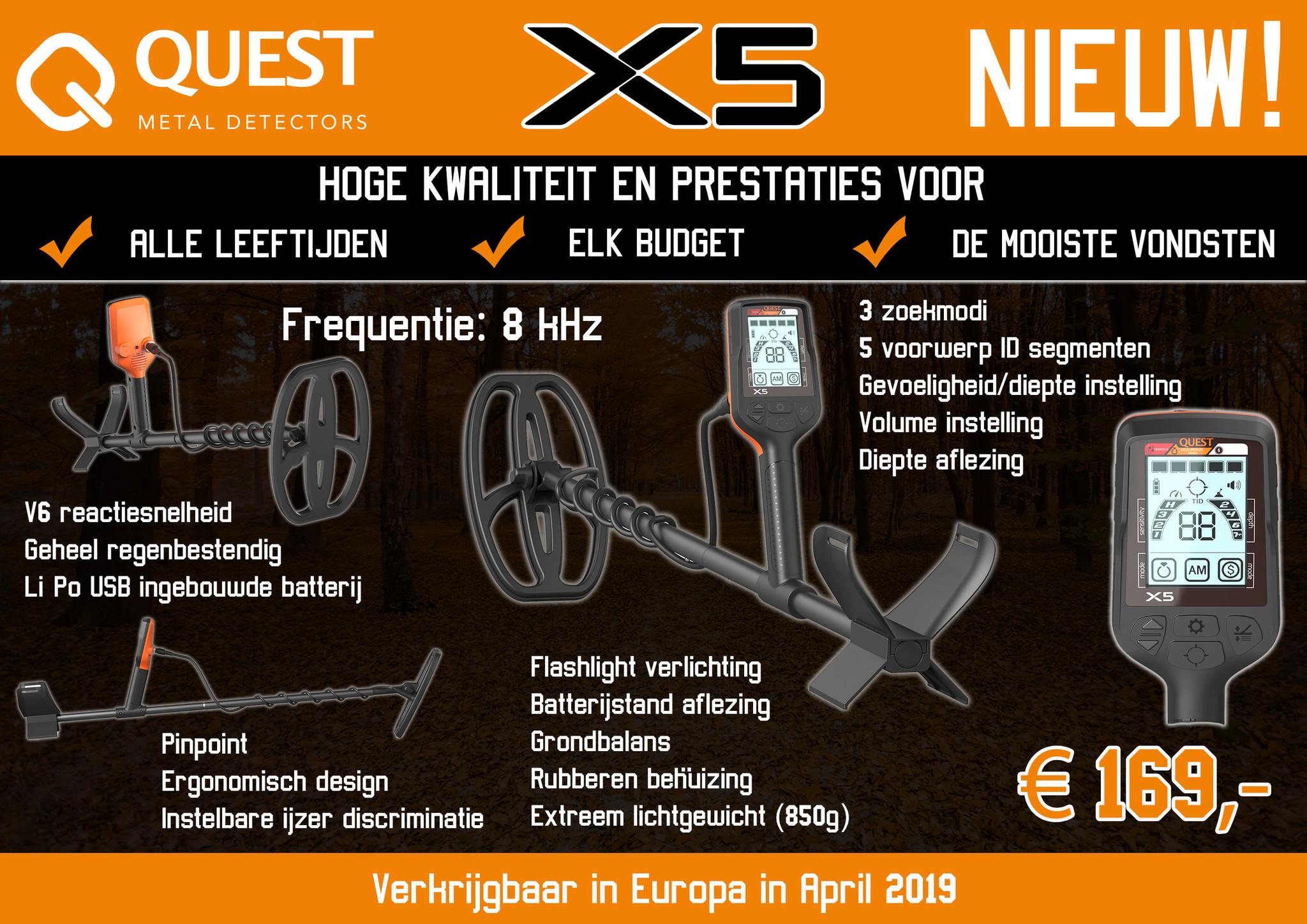 Quest Quest X5 Kinder Metaaldetector