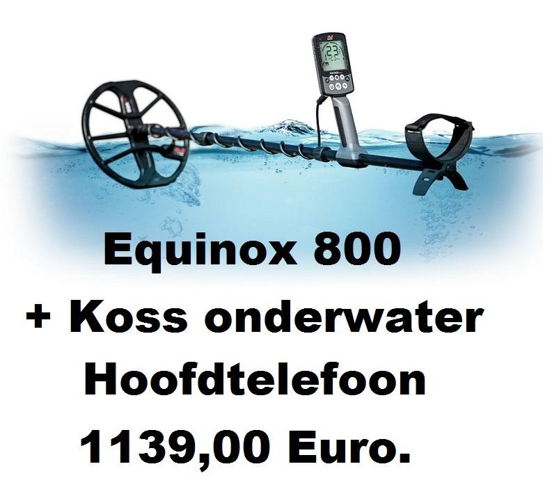 Minelab Minelab EQUINOX 800  Met Koss onderwater hoofdtelefoon.