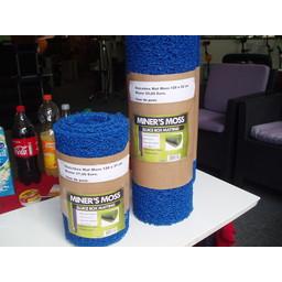 Sluicebox Moss  Riffelmat Sluicebox Moss  Riffelmat blauw, 31x60 cm.
