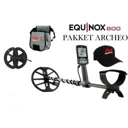 menelab Minelab EQUINOX 800  Met 2 de coil voor de stort 15 cm rond.