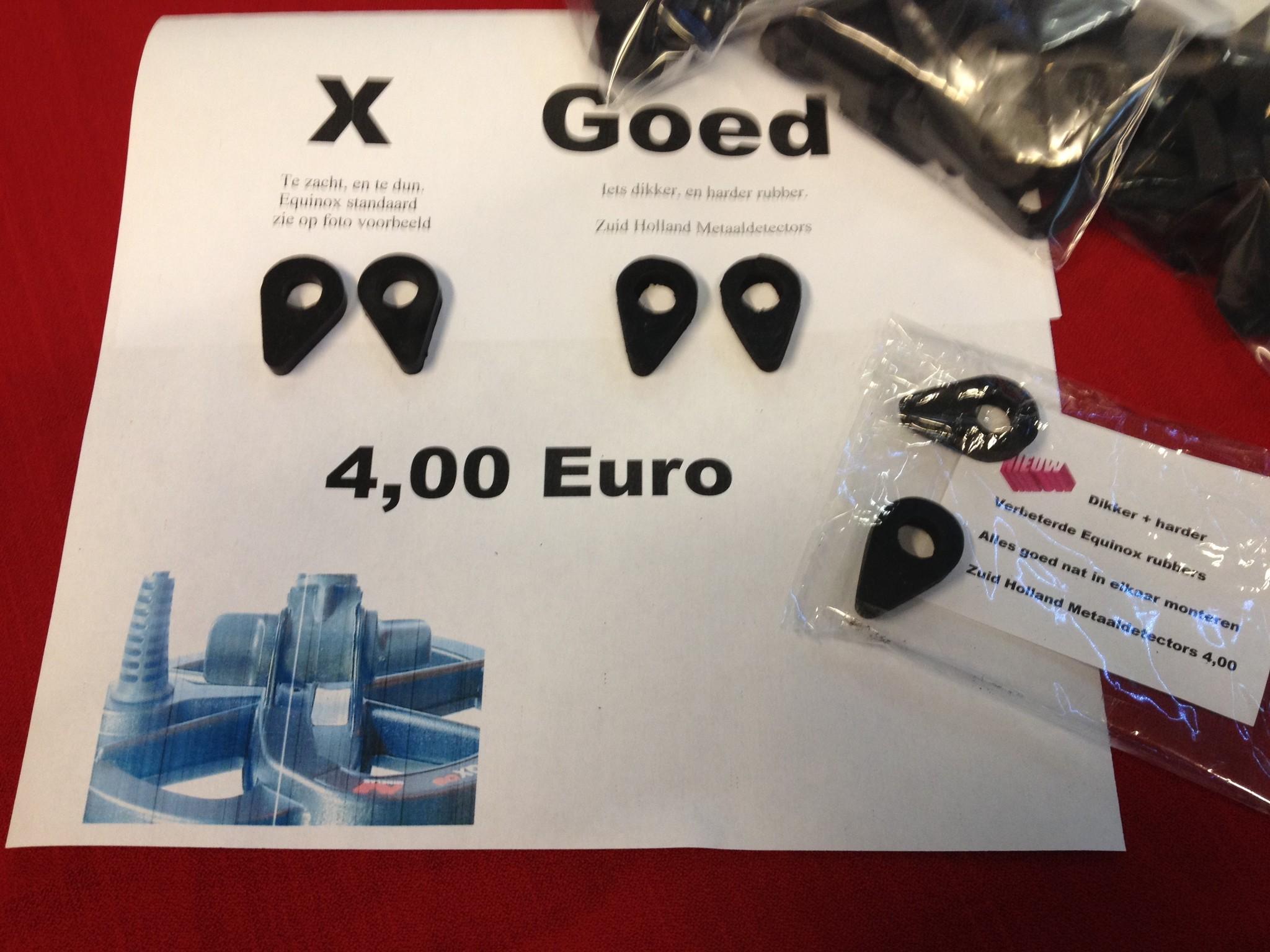 Minelab Equinox verbeterde schotel rubbers 600 en 800
