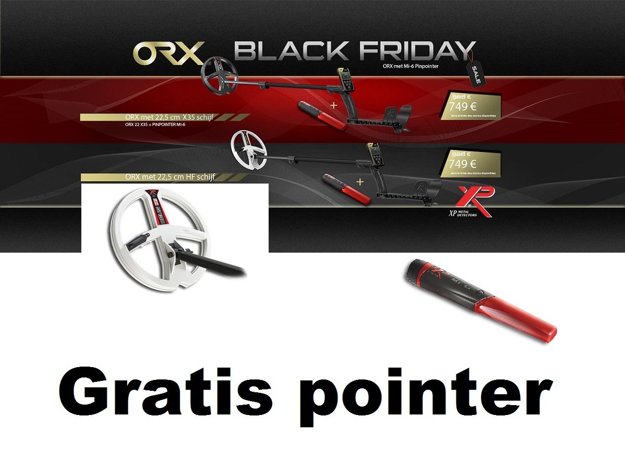 XP ORX met 22.5 cm. HF 50, kHz. ronde HF schotel.