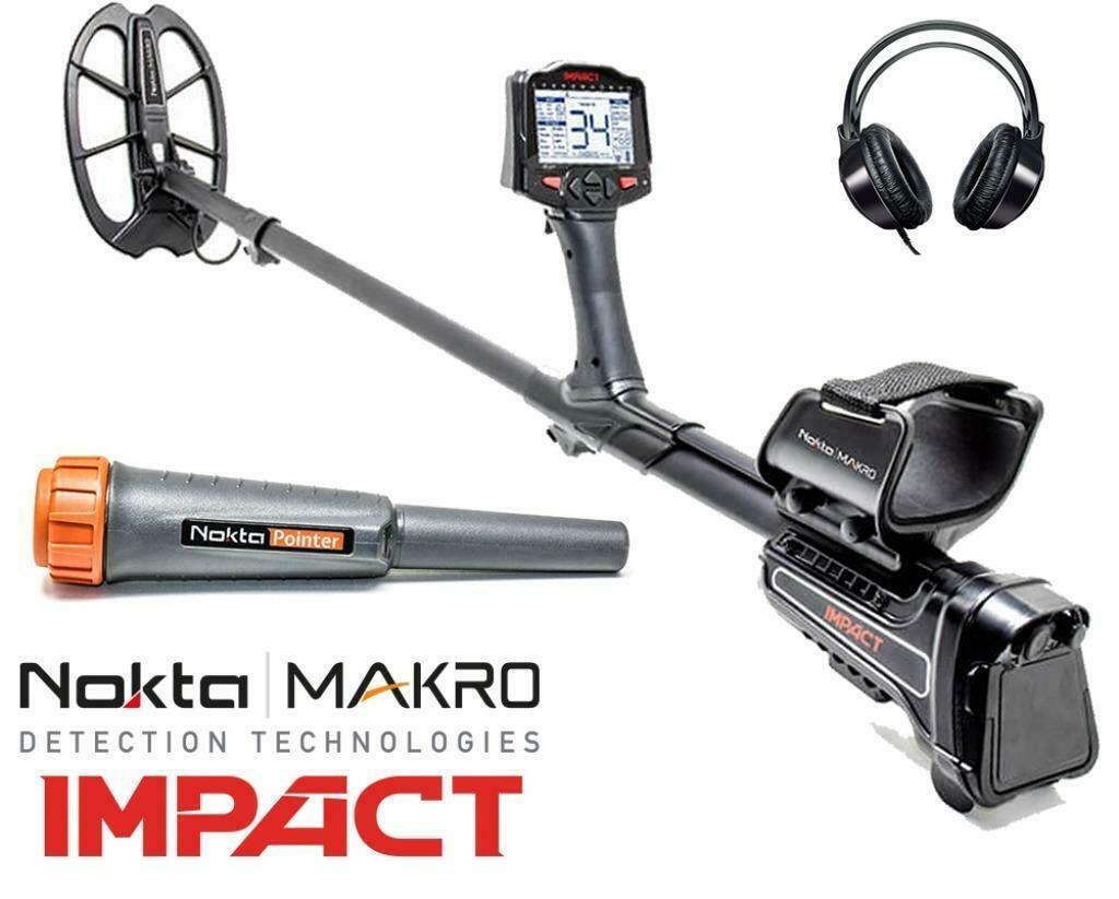 Makro Nokta Impact Metaaldetector Ongekende diepe  Nokta 5, 14, 20, kHz.