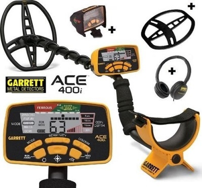 Garrett ACE 400i Metaaldetector Gratis starters pakket + Display hoesje