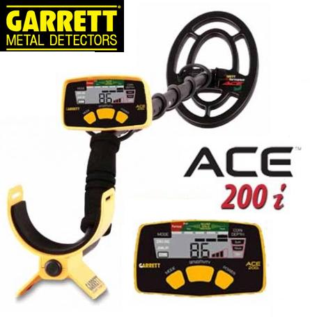 Garrett ACE 200i metaaldetector Nieuwe Update i hoesje hoofdtelefoon.