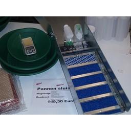 Sluicebox Gold Sluicebox Set Compleet Model schep 87x20,5 cm.