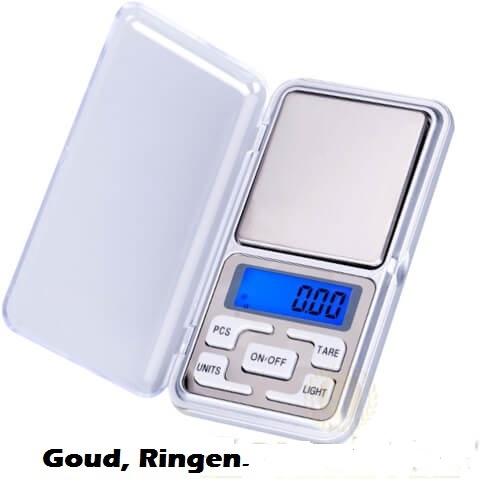 Weegschaaltje digitaal van 0,01 tot 200 gr. munten kruiden goud zilver