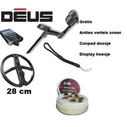 XP Deus V 5,2.1  NL. schotel  X35 28 cm Huis/RC draadloos.