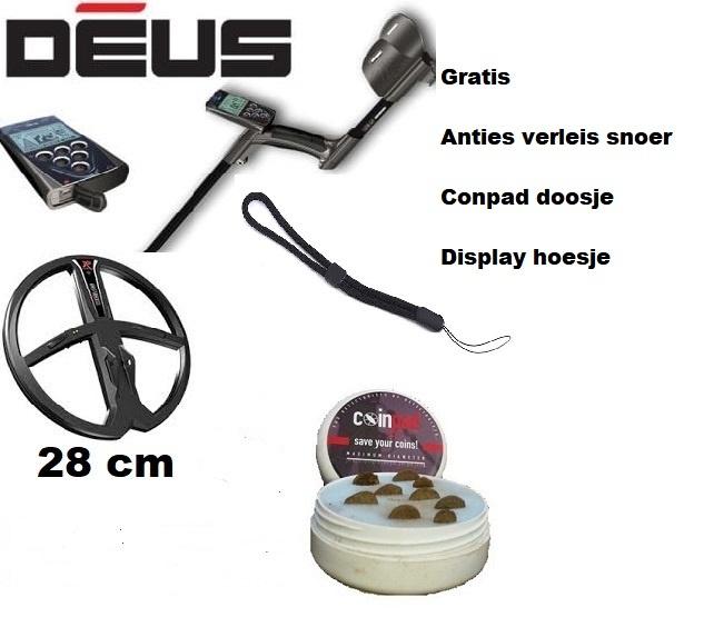 XP Deus V 5.2.1  NL X35 schotel DD 28 cm Huis/RC Draadloos Detector