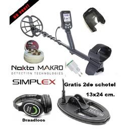 Nokta&Makro Simplex. Nokta Simplex WHP  V0. 2.78 Draadloze Hoofdtelefoon  2de schotel.