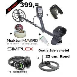 Nokta&Makro Simplex. Nokta Simplex WHP  V0. 2.78 Draadloze Hoofdtelefoon  2de schotel rond 22 cm.