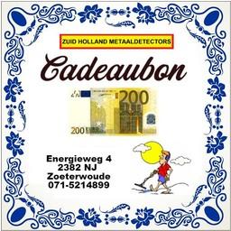 Zuid Holland Metaaldetectors Cadeaubon 200 euro