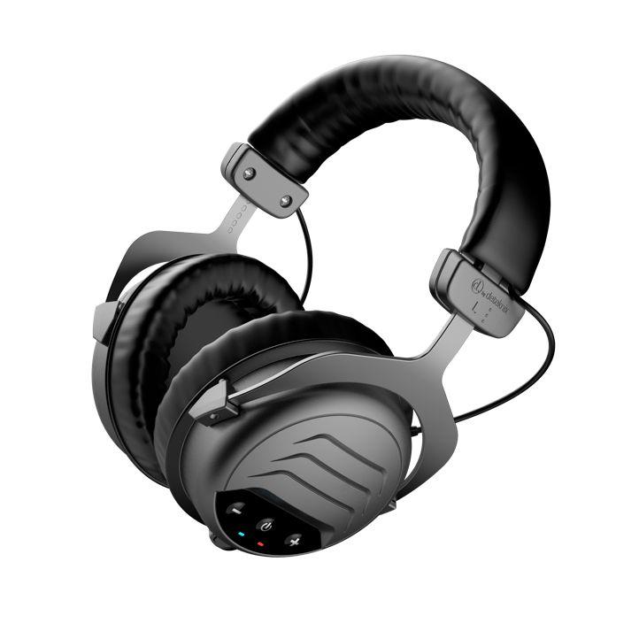 Deteknix Draadloze W-6 Pro Hoofdtelefoon, grote oorschelp kleine haakse plug
