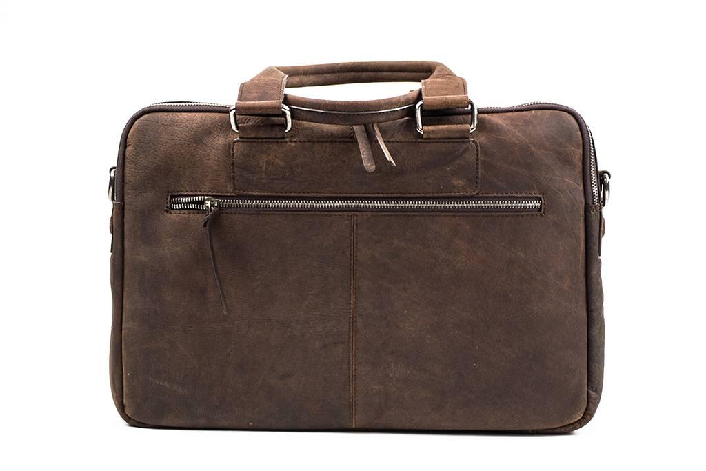 8de1ea1c3ae Leren laptoptas Carl-brown | 15 inch | DSTRCT | Urban Bozz