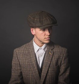 Shelby Brothers collection by Orange Fire Shelby Cap Deluxe  Brown-Blue