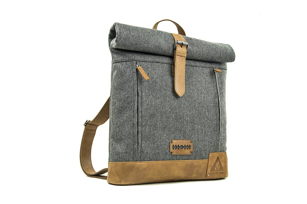 Shelby Brothers collection by Orange Fire Johnny rolltop-backpack