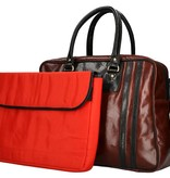 Leather Design The Big V   cognac