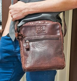 H.J. de Rooy Perth brown crossbodytas