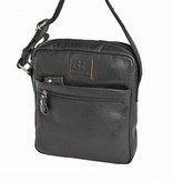 H.J. de Rooy Perth black crossbodytas