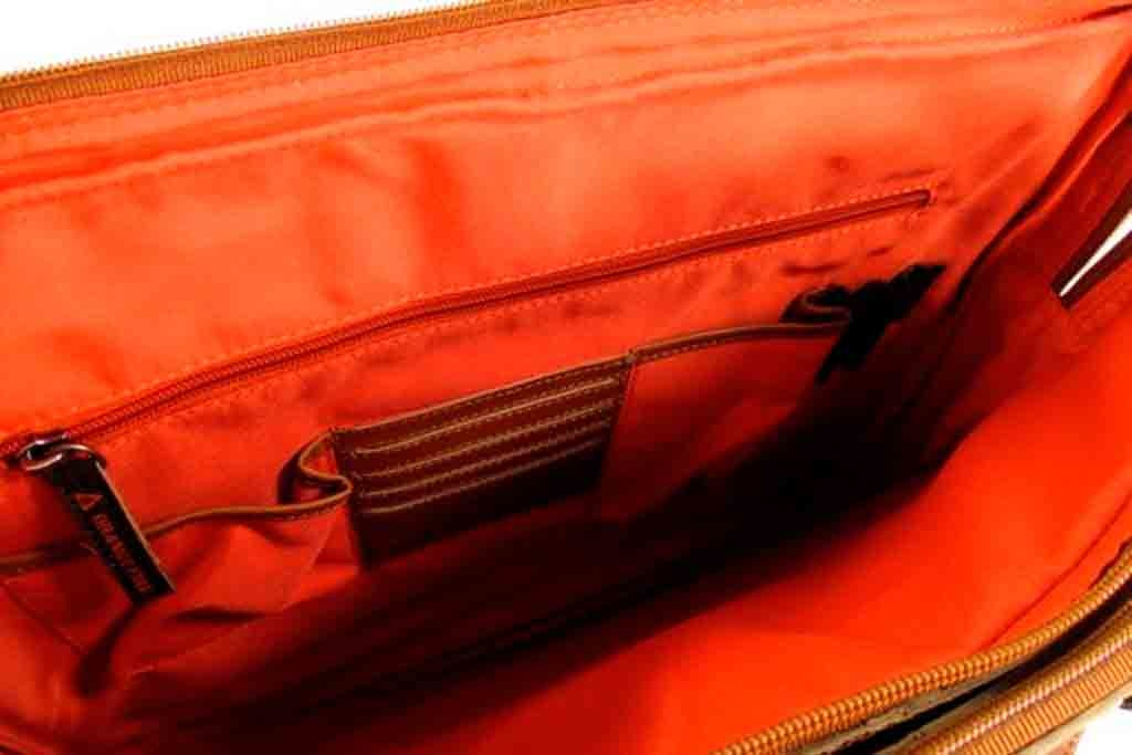 Orange Fire 15,6 laptoptas SMITH Cognac