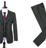 Shelby Brothers collection by Orange Fire 3-delig tweed pak Green Herringbone