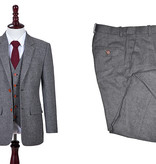 Shelby Brothers collection by Orange Fire 3-delig tweed pak Classic Grey Barleycorn