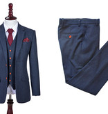 Shelby Brothers collection by Orange Fire 3-delig tweed pak Classic Navy Barleycorn