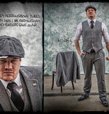 Shelby Brothers collection by Orange Fire Classic Grey Herringbone 3-delig tweed pak