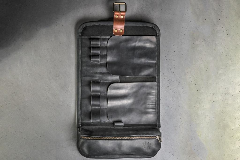KrukGarage  Tool roll black/cognac