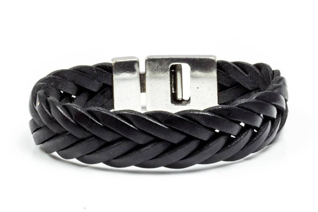 Josh Josh© armband black gevlochten
