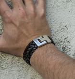 Josh Josh© armband XL black gevlochten