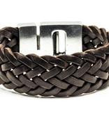 Josh Josh© armband XL brown gevlochten