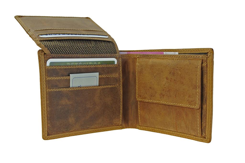 Leather Design LD portemonnee met verborgen papiergeldvak
