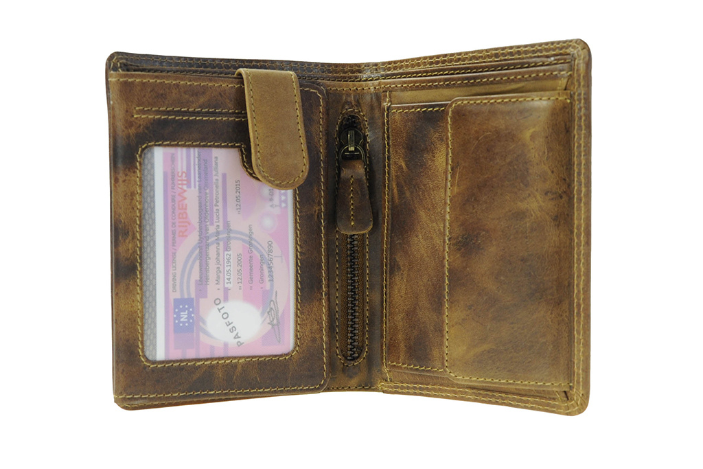 Leather Design Leather Design billfold portemonnee