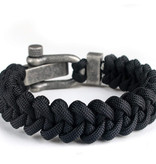 Musthef Dusty black koord armband