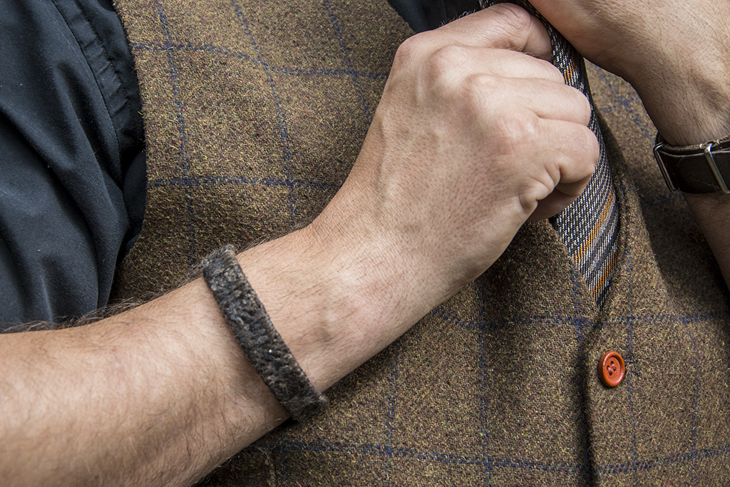 Shelby Brothers collection by Orange Fire Peaky bracelet brown L by Josh©