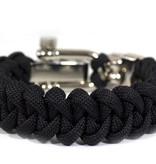 Musthef Classic black  skull koord armband