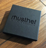 Musthef Dusty navy-blue heren armband