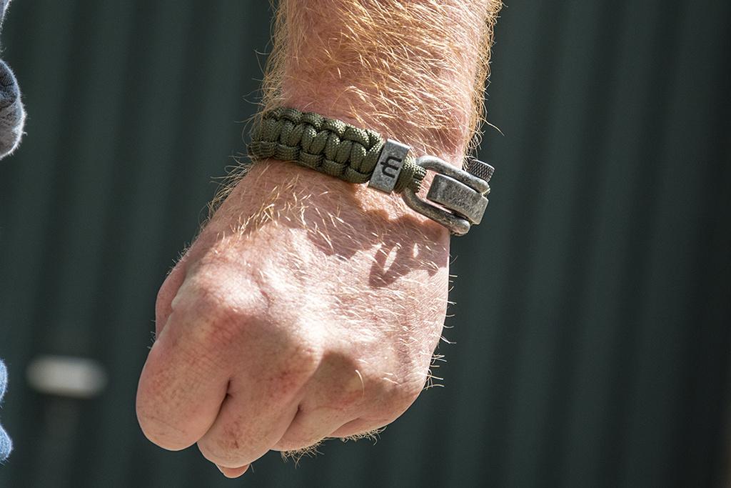 Musthef Dusty olive green koord armband