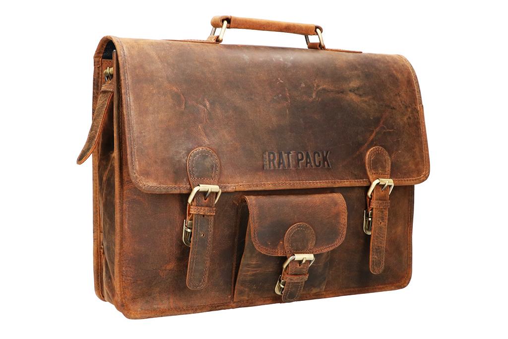 Rat Pack by Orange Fire Vintage leren herentas XAVI