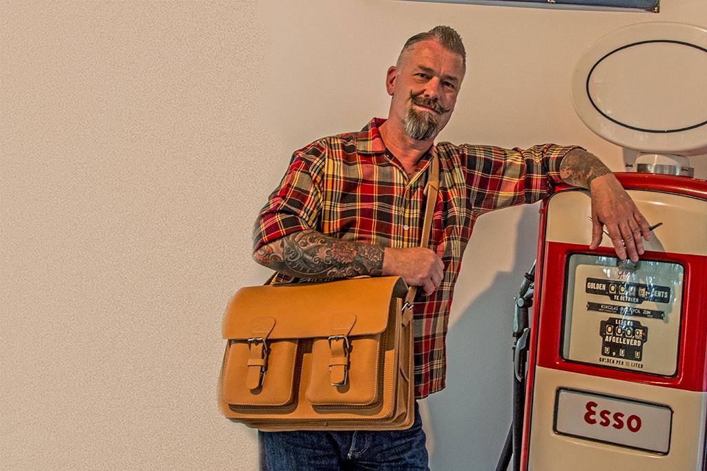 Ruitertassen Ruben old-skool boekentas