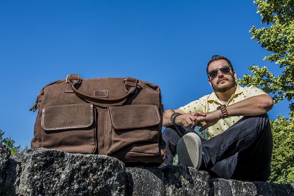 Urban Bozz Laptoptas Sancho brown