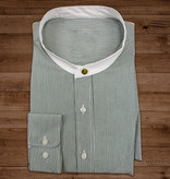 Shelby Brothers collection by Orange Fire 1920s Authentic Green Stripe Collarless overhemd - stud