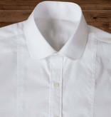 Revival Beaumont penny collar wit overhemd met stud