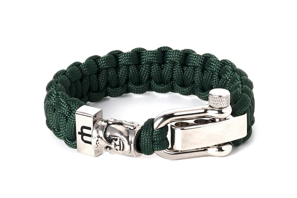 Musthef Classic Buddha dark-green heren armband