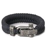 Musthef Dusty antraciet koord armband