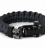 Musthef Rebel antraciet  skull armband